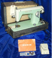 CORONADO MINT GREEN/WHITE SEWING MACHINE