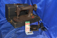 singer brown fiddle 15 class sewing machine