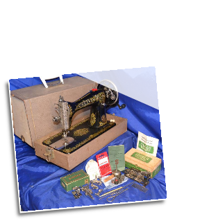 SINGER 115 TIFFANY/GINGERBREAD HAND CRANK SEWING MACHINE