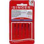 singer 2020-16c sewing machine needles 5 card